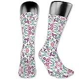 Dydan Tne Fondo de Pantalla de Birds and Bees (1970) Calcetines de Vestir - Colorful Funky Socks