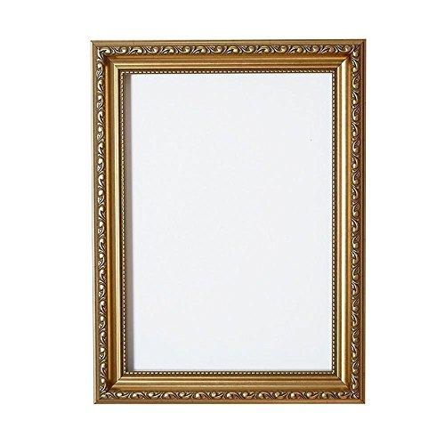 Verzierter Bilderrahmen im Shabby Chic/Foto/Posterrahmen - Mit Rückwand aus MDF - Mit bruchsicherem Plexiglas aus Styrol für hohe Klarheit- 24 x 36 Zoll -Gold