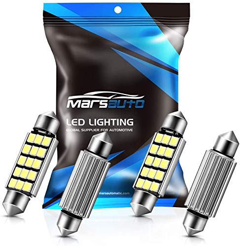 Marsauto 578 211-2 212-2 LED Bulbs 41mm 42mm 1.59inch Extremely Bright 400LM 6500K 2835 Chipsets Festoon LED Interior Map Dome Door Lights Bulbs 569 6411 6451 (Pack of 4)