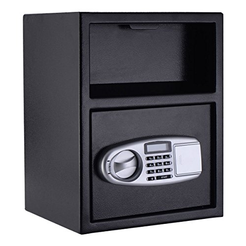 Giantex Digital Safe Box Depository Drop Deposit Front Load Cash Vault Lock Home Jewelry