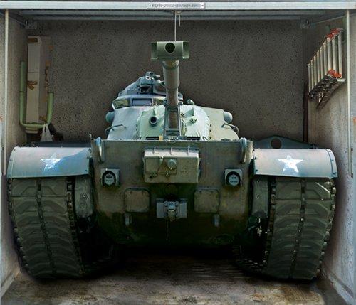 style-your-garage.com Garagentor Fotoplane, US Army Panzer B 245 cm x H 210 cm