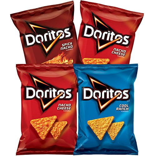 Doritos Flavored Tortilla Chips, Variety Pack, 10 Ounce, 4 Count