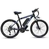 SMLRO Electric Bikes for Adults, 26'' 350/500/1000W Mountain Bike, Aluminum Alloy E-bike Bicycles...