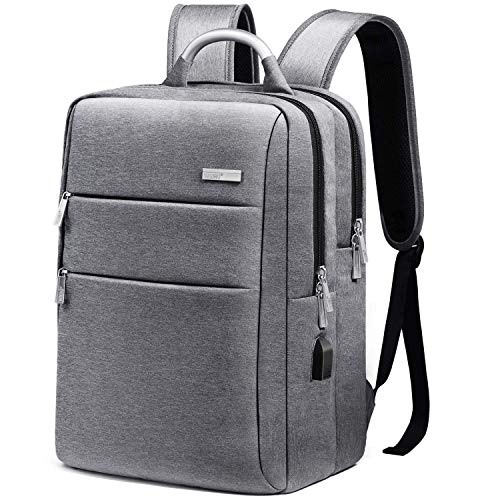 Zaino Porta PC 15.6 Pollici, WAWJ Antifurto Zaino Con Porta USB Men Laptop Backpack