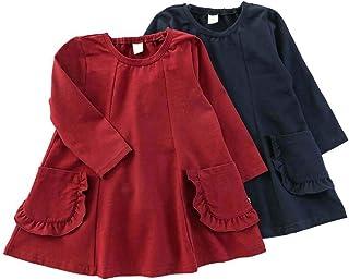 【ママとおそろい】dolcina (ドルチーナ) フリルポケットワンピース (80~140cm) キムラタンの子供服 (33337-183) ネイビーブルー 110
