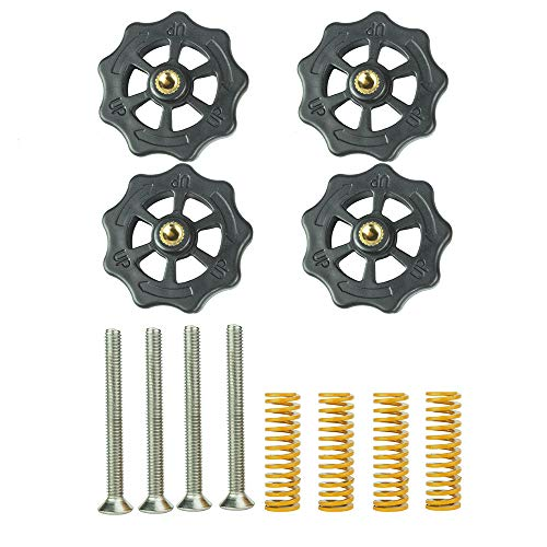 Furiga Upgraded Hand Twist Leveling Nut Diameter 40mm Hot Bed Compression Mould Die Springs 8x25 Screws M4X40 for 3D Printer