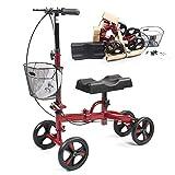 HZYWL Caminante Rodante Rodilla Direccional Scooter Lesiones En El Pie Muletas Compactas Sistema De Frenos Doble Rodilla Económica Rehabilitación del Tendón De Aquiles