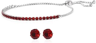 Hypoallergenic Round White Cubic Zirconia CZ Earrings Tennis Bracelet for Women 5