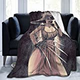 Lady Dimitrescu Resident Evil Ultra-Soft Throws Blanket Air Conditioning Blanket for All Season Bedding Couch Plush House Warming Decor
