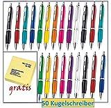 Libetui 50 Stück Bunte Kugelschreiber farbenfrohe Farben für Büro und Haushalt (Mehrfarbig)