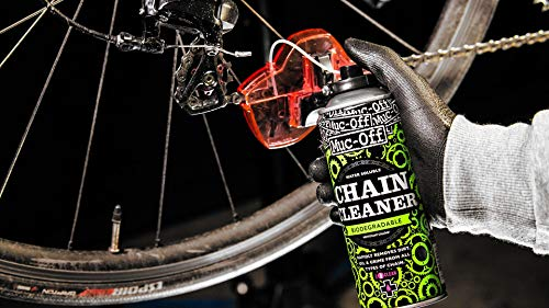 Muc-Off MUC951 Chain Doc - Bike Chain Cleaning Machine With Rotating Brushes For A Fast Clean - Includes 400ml Biodegradable Chain Cleaner Spray