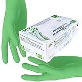 SFM  MINT Latex : XS, S, M, L, XL grün gepudert glatt Einweghandschuhe Einmalhandschuhe Untersuchungshandschuhe Latexhandschuhe Minze M (100)
