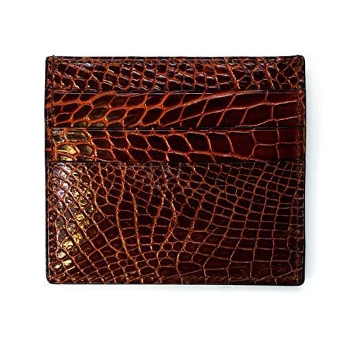 Chiccheria Brand Kartenhalter | Krokodilleder | Etui | Herren | Braun | Glänzend | Made in Italy | Bekannt aus GQ
