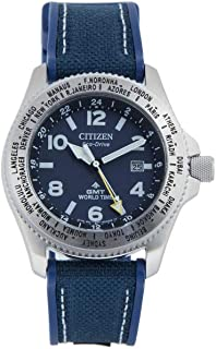 Citizen Men's Analogue Quartz Watch with Canvas Strap BJ7100-15L