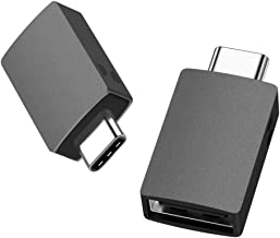 USB C to USB Adapter - 2 Pack, uni【2020 New Updated】(Thunderbolt 3 Compatible) USB to USB C Adapter, Up 5Gbps, Compatible ...
