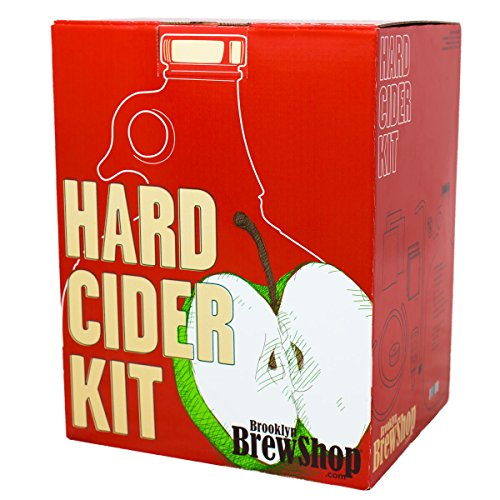 Brooklyn Brew Shop Hard Cider Making Kit: Starter Set with Reusable Glass Fermenter, Equipment, Ingredients - Perfect for Making Craft Hard Cider at Home GKCDR One EA