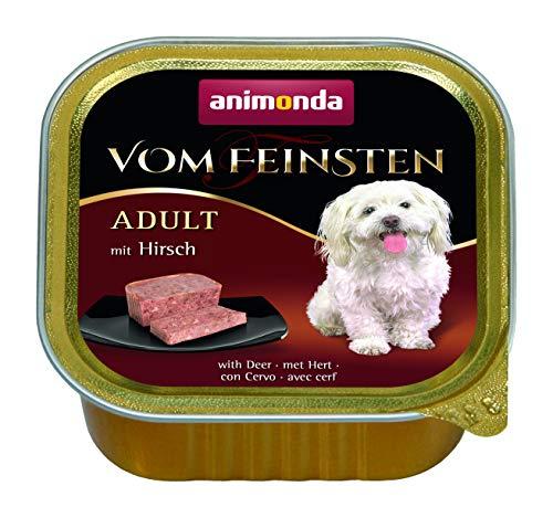 Animonda van de fijnste volwassen hondenvoer, natvoer voor volwassen honden, verschillende soorten en maten, met hert, 22 x 150 g