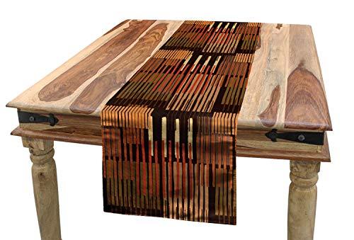 ABAKUHAUS Ethnique Chemin de Table, Conception géométrique Stripes, Rectangulaire Décoratif pour Salle à Manger, 40 cm x 180 cm, Multicolore