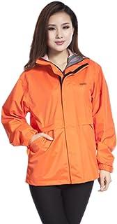 PENGFEI レインコートポンチョ 防水 ジャケット カジュアル 短いパラグラフ トレッキング クライミング 通気性のある、 5色、 6サイズ (色 : Orange, サイズ さいず : S s)