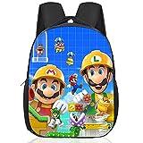Nesloonp Mario Bros Mochilas Escolares, Mochilas Super Mario Mochila escolar para niños, Mochila Escolar para niños y niñas Popular Anime Pattern