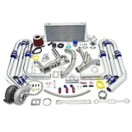 High Performance Upgrade GT45 T4 13pc Turbo Kit - Chevy Small Block SBC Engine