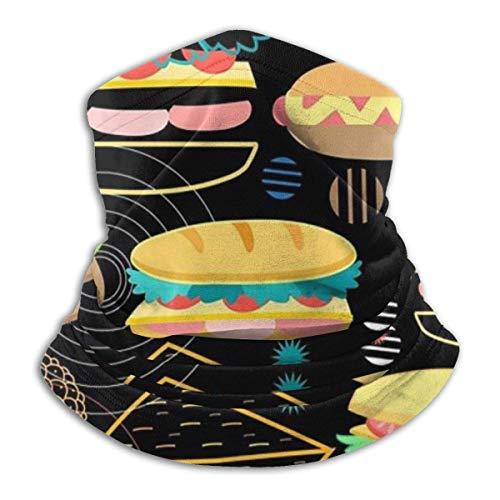 Mathillda halsdoek voor hamburger en eieren, omkeerbare halswarmer, oorwarmer veelzijdigheid