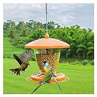 窓鳥フィーダー 飼料ステーションオレンジ色の鳥のフィーダー屋外の庭の餌ピジョンオウム鳥の穀物ぶら下がっているフィーダー庭の装飾に最適 冬のベストバードフィーダー