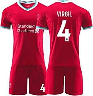 Voetbal shirt 4# Virgil Van Dijk Voetbal Pak, Volwassen, Kind Trainingspak, Ademende Sport Korte Mouwen, Standaardmaat (Co...