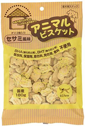 オーシーファーム 犬用おやつ アニマルビスケット セサミ風味 180g×4個 (まとめ買い)