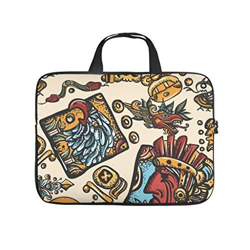 Egypt India Maya Totem 3D Print Laptop Bag Protective Case Waterproof Neoprene Laptop Case Stylish Laptop Sleeve Case for Boyfriend Girlfriend