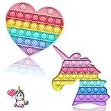 MOKRMA Fidget Toys Push Bubble Fidget Sensory Toys Pop it Fidget Stress Reliever Toys Fidget Toy Squeeze Juguete sensorial para niños con TDA, TDAH o autismo