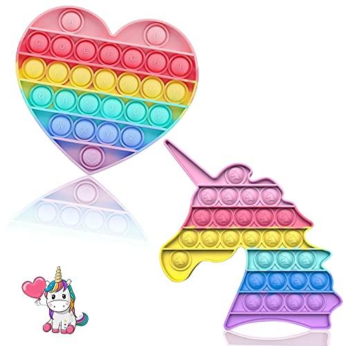 pop it unicorno arcobaleno Pop it Fidget Toys Pop Push It Bubble Sensoriale Fidget Giocattolo