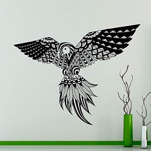 AQjept Patrón de Plumas de pájaro calcomanía de Pared Loro pájaro exótico Pegatina de Vinilo Interior de la casa decoración de Arte de Pared 53x42 cm