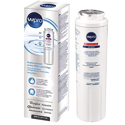WPro UKF8001 Cartouche de filtre à eau universelle pour réfrigérateur et congélateur