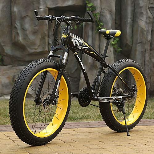 bon comparatif WJH 26 pouces vélo de montagne adulte, gros pneu double frein à disque cadre de vélo de montagne… un avis de 2021