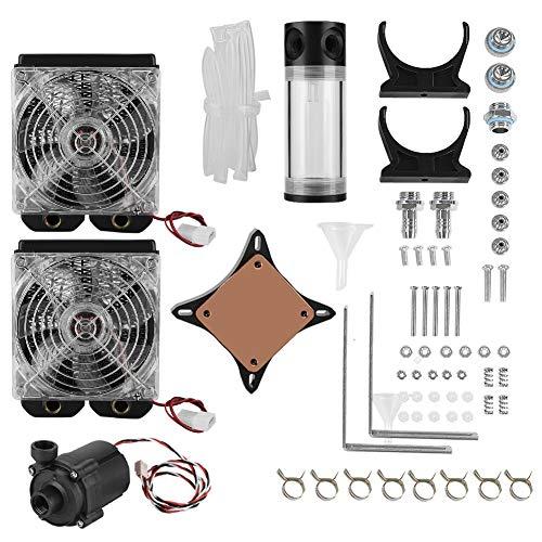 Kit de enfriamiento de agua de computadora de escritorio DIY, conjunto de enfriamiento de tanque de bomba de agua de radiador de 120 mm Kit de enfriador de líquido de enfriamiento de agua de PC
