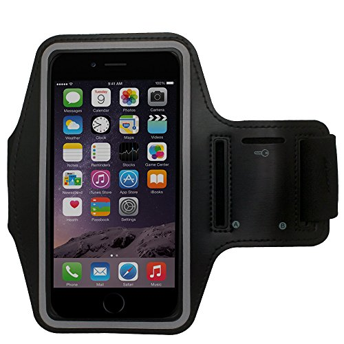 Cbus Wireless Adjustable Running Jogging Sports GYM Armband Cover Case Holder for HTC Desire EYE - Black