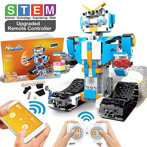 POKONBOY Building Blocks Robot Kit for Kids,App Controlled STEM Toys Science Engineering Kit DIY Building Robot Kit STEM Robotics for Teens Boys Girls to Build Age of 8-14(White)