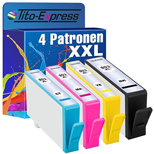 Tito-Express PlatinumSerie 4X Patronen HP-903XL kompatibel mit HP-903XL   Geeignet für HP OfficeJet Pro 6860 6868 6900 6950 6960 6970 6975 6978