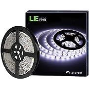 LE Ruban LED 12V 5M Autocollant Étanche IP65, Bande LED Lumineuse 18w Blanc Froid 6000k Recoupable Souple pour Chambre, Escalier, Armoire, Soirée, Bar, Présentoir etc