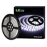 LE Ruban LED 12V 5M Autocollant Étanche IP65, Bande LED Lumineuse 18w Blanc Froid...