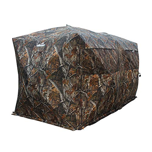 THUNDERBAY Bunkhouse Pop Up Portable 6-8 Person Side-by-Side Hunting Blind