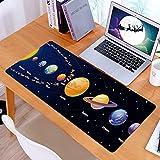 Alfombrilla Ratón Grande Gaming Mouse Venus Orbit Star Solar System Galaxy Universe Mars Comet Planet Realistic Globe Planets Abstract,Base de Goma, Portátil, Ordenador