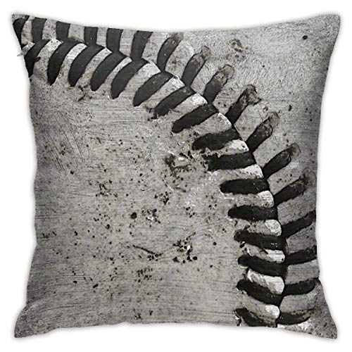 Ahdyr Baseball Cushion Throw Pillow Cover Decorative Pillow Case For Sofa Bedroom 18 X 18 Inch