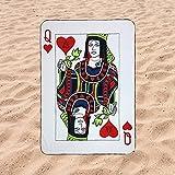 Toalla de Playa Microfibra Forma de Carta de Poker- Diseño Innovador, Fresco, Tentador y Divertido de una Carta |...