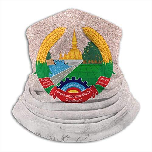 Fleece Neck Warmer - Laos Lron Rice Badge Flag Halsmanschette, Bandana, Maske, Stirnband & Mütze