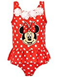 Disney Bañador para Niña Minnie Mouse Rojo 3-4 Años
