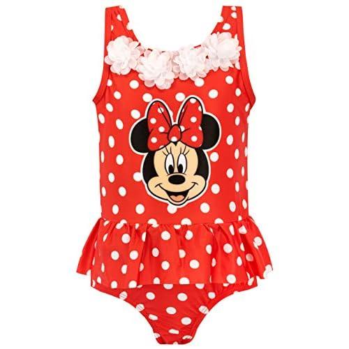 Disney Costume da Bagno per Ragazze Topolina Minnie Mouse Rosso 5-6 Anni