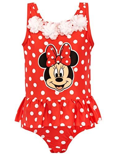 Disney Mädchen Minnie Mouse Badeanzug Rot 116