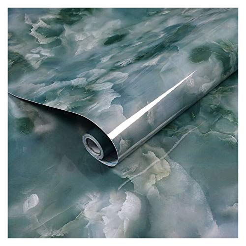 WHYBH HYCSP Kitchenwall Aufkleber Marmorcountertop Aufkleber Bad Selbstklebende wasserdichte Tapete (Color : Blue, Size : 3mx60cm)